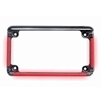 Motorcycle License Plate Frame With LED Turn Signals and Brake Lights