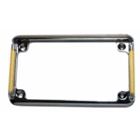 Motorcycle License Plate Frame With LED Turn Signals - Real Flex Plate 2