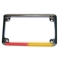 Motorcycle License Plate Frame with Extra Tail Lights - real flex Int 1